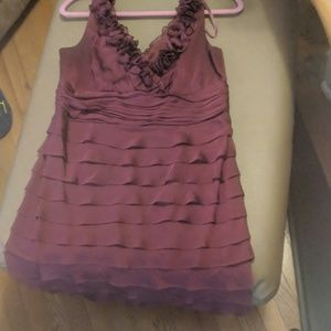 GUC burgundy Ruffle Party Dress